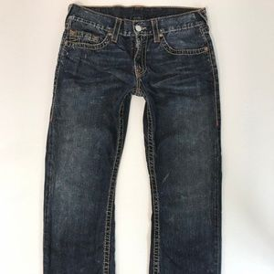 True Religion Mens Jeans Size 33x32 Straight Leg